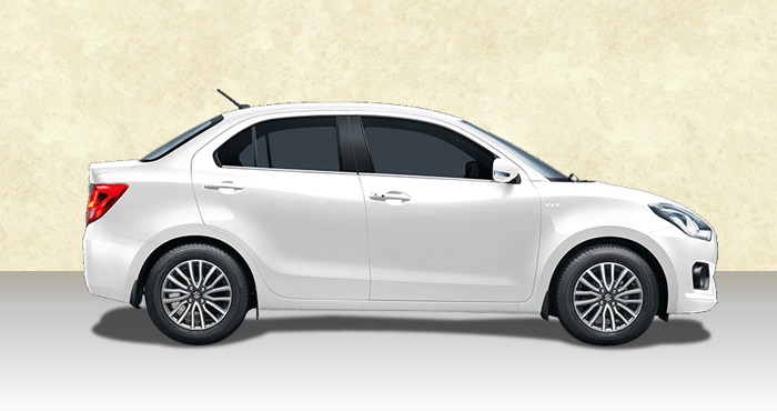 Hire Maruti Dzire 4+1 Seater from India Rental Cars