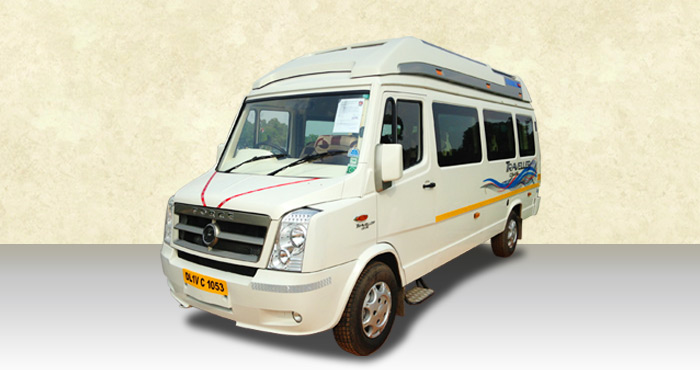 Hire Force Tempo Traveller 8+2 Seater from India Rental Cars